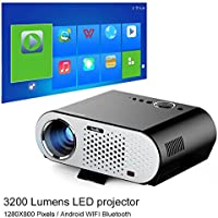NewPal GP90UP video projector 3200Lumens andriod led projector with Wifi Bluetooth for home theater projector beamer