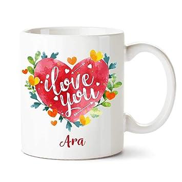 online store 9c0ee 4e45e Buy Ara I Love You Ceramic Coffee Name Mug Online at Low ...