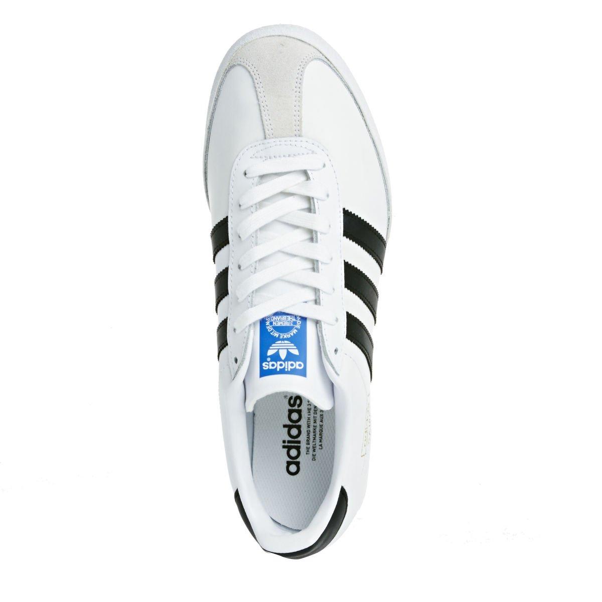 buy popular 8db74 473fa adidas Bamba, Herren Sneaker Weiß WeißSchwarz Amazon.de Schuhe   Handtaschen