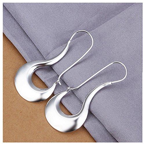 NYKKOLA Beautiful Elegant Jewelry 925 Silver Unique Simple Dangle (925 Sterling Silver Dangle Earrings)