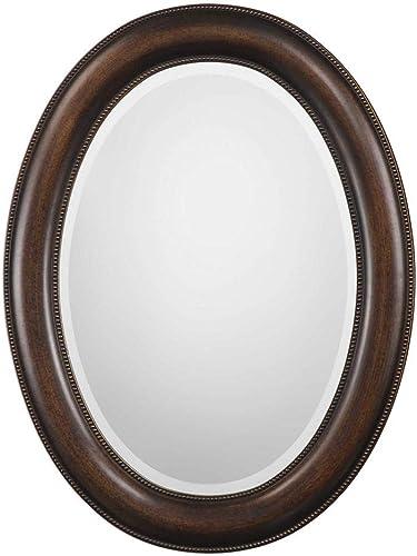 Spinner Oakes Dark Bronze Oval Mirror Oval Wall Mirror in Dark Bronze Finish 22 W x 29 H Oval Mirror