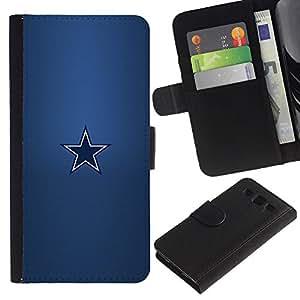 Protector de cuero de la PU de la cubierta del estilo de la carpeta del tirón BY RAYDREAMMM - Samsung Galaxy S3 III I9300 - Minimalista Estrella