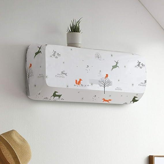 Cabilock 2pcs climatiseur cache-poussi/ère ac cache-poussi/ère sac climatiseur housse de protection pour /école bureau /à domicile int/érieur ext/érieur s + l