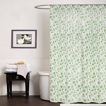 CASA FURNISHING PVC Plastic Shower Curtain with 8 Hooks; 54X108 [9FEET]