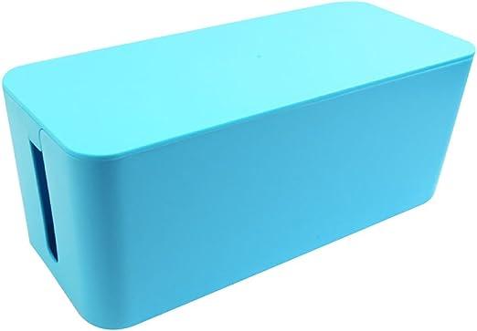 ounona regleta Cable Management Box Conector Organizador plástico Cable Caja de almacenamiento, para escritorio tv Computer USB Hub – Tamaño S (Azul): Amazon.es: Hogar