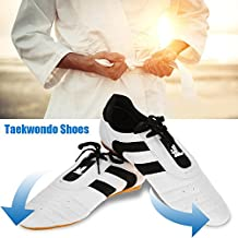Vbestlife Martial Arts Taekwondo Shoes Lightweight Breathable Sport Boxing Karate Kung fu TaiChi Shoes for Adults and Children
