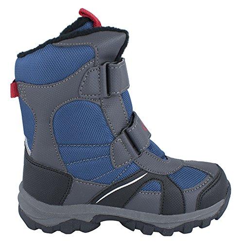 Klettband Schneestiefel warm innen für Jungen (2056m) (40, Marineblau)