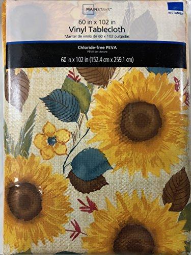 (Mainstays Sunflower PEVA Vinyl Tablecloth, 60 X 102 Inches)