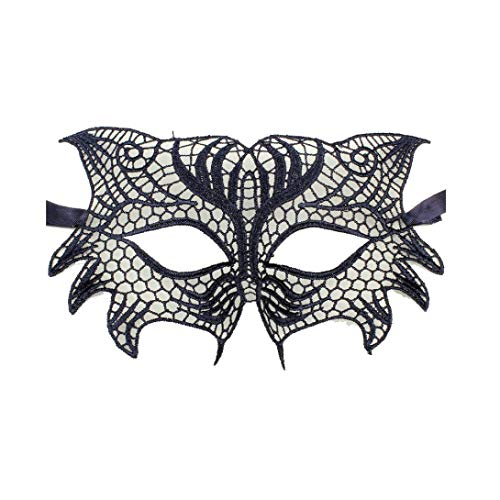 iQKA Women Men Sexy Elegant Eye Face Mask Masquerade Ball Carnival Fancy Party Mask -