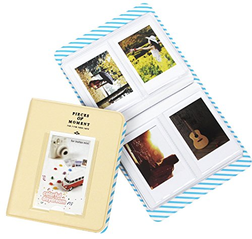 Gvirtue Pieces of Moment Mini Album for Fujifilm Instax Mini 9 90 8 8+ 70 7s 25 50s/Fujifilm Instax SP-1/Polaroid PIC-300P/Polaroid snap/Snap touch, 64 Photos ()