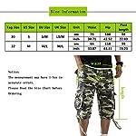 OEAK Shorts Cargo Homme Rétro Baggy Pantacourt Camouflage Outdoor Bermudas Casual Combat Pantalon Court Militaire Multi… 14
