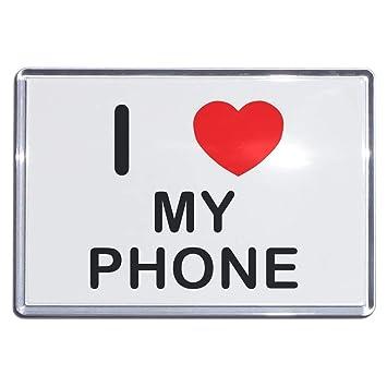 amazon i love my phone プラスチック冷蔵庫マグネット 選択肢の