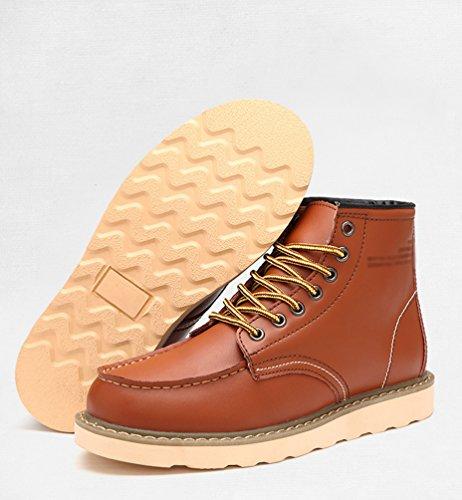 Chaude CHENGYANG Bottines Neige Kaki Homme Hiver Chaussures Martin Antidérapant Bottes de Bottes YwXpqrY