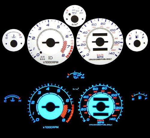 90 91 92 93 94 95 96 97 Mazda Miata w/ Tach White Glow Gauges