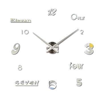 Shuangklei Letras Números Pegatina Reloj De Pared Digital Diy Decoración Aguja De Cuarzo Relojes De Pared Home Deco Accesorios Modernos, Oro: Amazon.es: ...