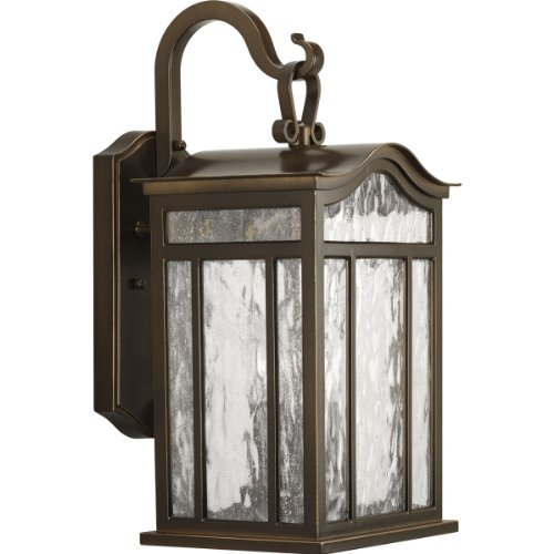 Progress Lighting P5717-108 3-Light Medium Outdoor Wall Lantern with Unique Arched Roof and Top Ribbon Scrolled Loops with Arching Arms, Oil Rubbed Bronze - Meadowlark Three Light