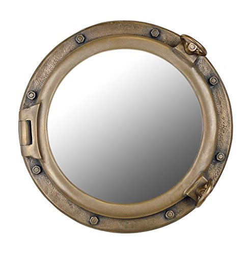 20'' Bronze Finish Wall Mount Porthole Mirror by Nautical Tropical Imports
