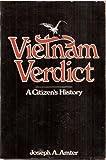 Vietnam Verdict, Joseph A. Amter, 0826402356