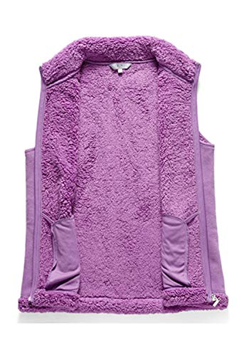 Para Cremallera Púrpura Mujer Con Casual De Lana Zamtapary Chaleco R6wgqqOz