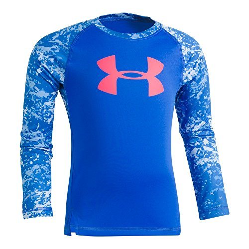 Under Armour Little Girls' Range Camo Big Logo Raglan, Lapis Blue, 6X