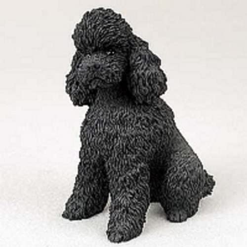 Sport Cut TINY ONES DOG Figurine Statue pet lovers gift resin POODLE BLACK