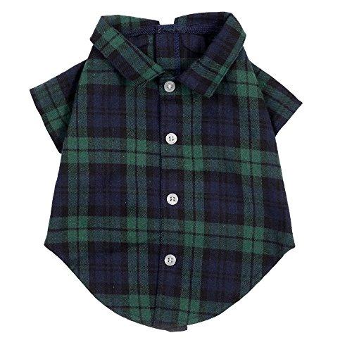 The Worthy Dog Black Watch Plaid Shirt, Black Multi, S
