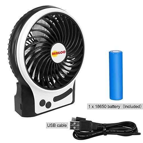Fan Bengoo Portable Fan USB Mini Desktop Desk Table Electric Rechargeable Fan for laptop room office outdoor travel