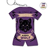 okkeyring Always Wolf Zinc Alloy Metal 3D Printing Car Business Key Chain Best Gift For Friends Boys Girls