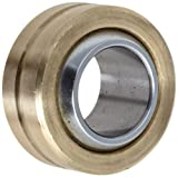"Sealmaster SBG 6 Spherical Plain Bearing, Two-Piece, Corrosion-Resistant, Unsealed, 3/8"" Bore , 13/16"" OD, 0.406"" Inner Ring Width, 5/16"" Outer Ring Width"