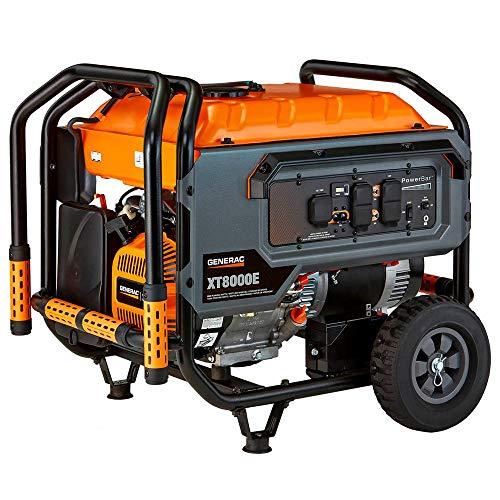 Generac 6499 Xt Series 8000e Portable Generator, 8000w (Generac Generators 8000 Watt)