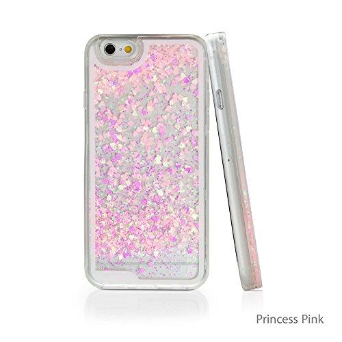 iPhone 6Plus Case, BoxWave® [flutterlove Case] Hybrid Hard Shell/TPU Liquid Glitter Case für Apple iPhone 6Plus, 6S Plus–Princess Pink