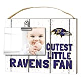"KH Sports Fan 1001101609 10""x8"" Baltimore Ravens Clip It Weathered Baby Logo NFL Photo Frame"