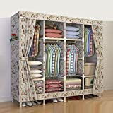 LaaLaa Home Portable Wardrobe Storage finishing Standing Clothes Storage Organizer Extra Strong and Durable Product size:210cm170cm45cm,D