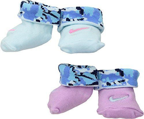 Nike Infant Baby Swoosh Logo Booties Crib Socks (0-6 Months, Orchid)