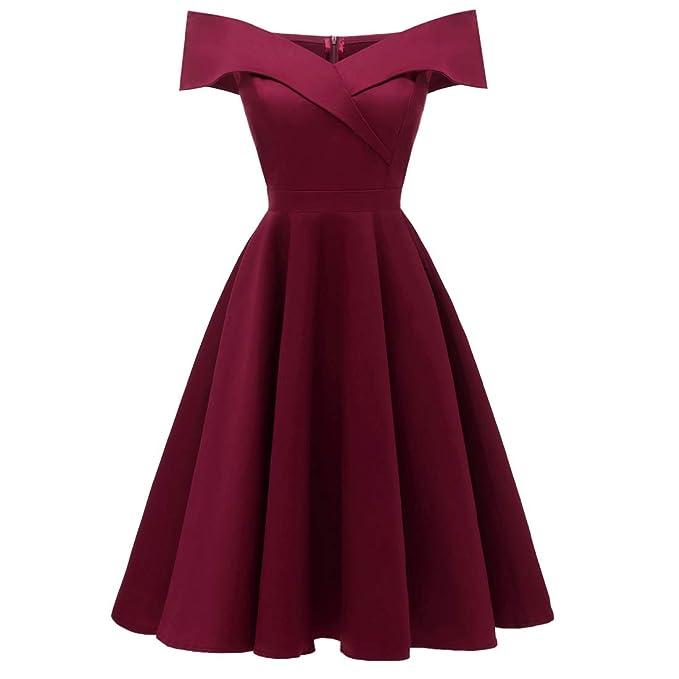 2f74b67968 Oyza9pe Women s Vintage 50s Floral Lace Flare A-line Dresses Shirtwaist  Swing Skaters Dresses Evening