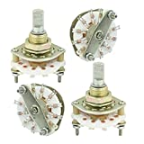 Water & Wood 4PCS Band Channael Rotary Switch 1P10T 1 Pole 10 Position Single Deck