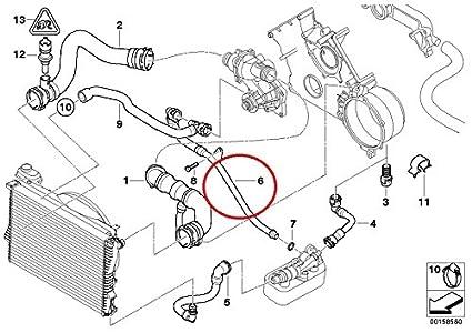 amazon com genuine bmw e39 540i e38 740i 740il coolant return water Engine Cooling System Diagram image unavailable