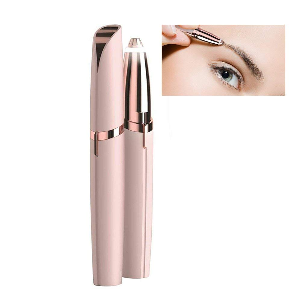 Flawless Eyebrow Electric Hair Remover Shaver, Built-in Light Pa inless Eyebrow Hair Removal Eraser Shaving Razor Face Care Treeshu