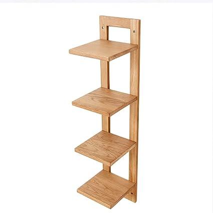Estanterías Estantes de madera maciza para colgar en la pared ...