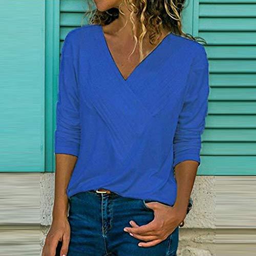 giallo a da Vectry da Bambina da donna manica shirt T scollo Offerta shirt originale donna donna con da lunga teenager di Camicette T CSqtpwgFBK