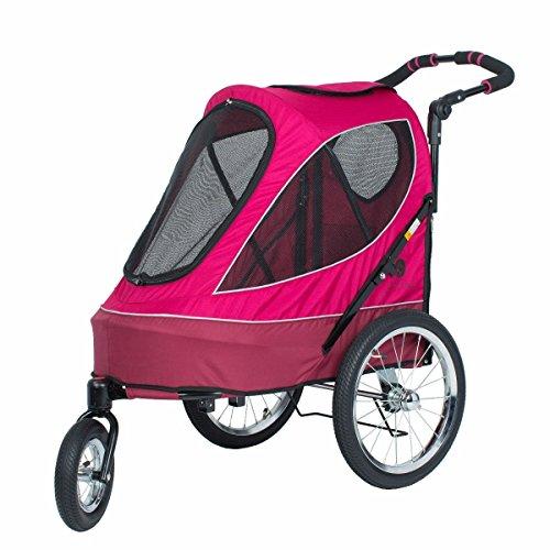 PETIQUE All Terrain Jogger-Blazin' Berry Pet Stroller, Blazin' Berry, One Size