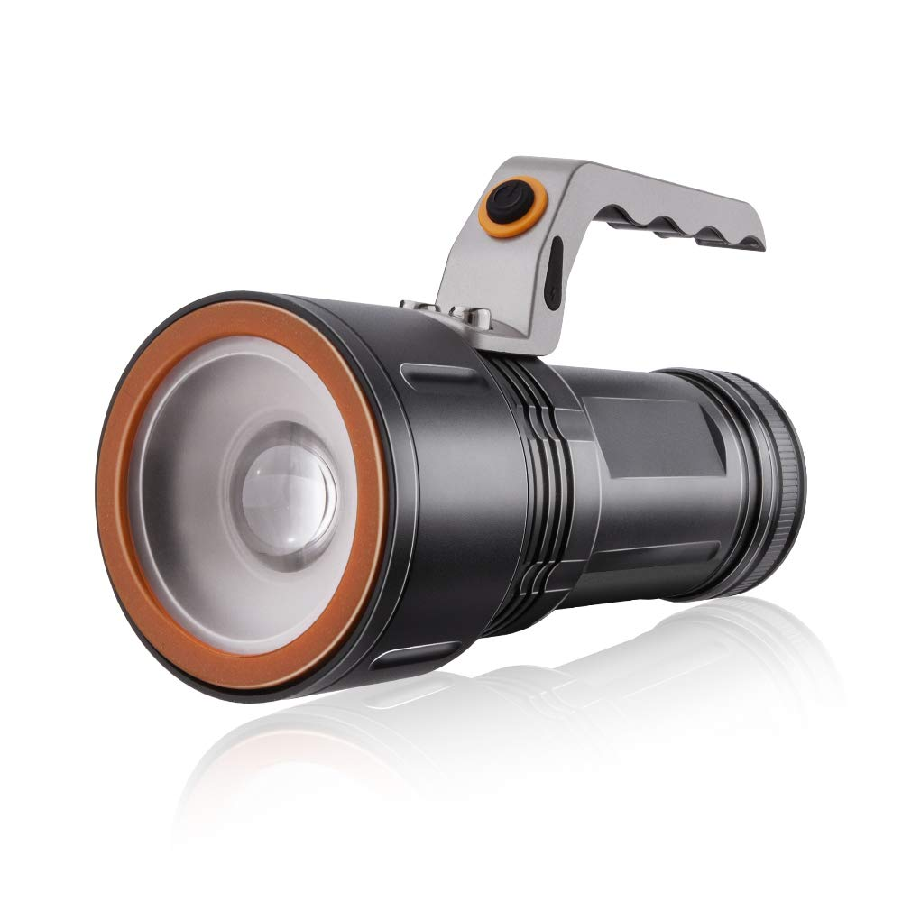 Maibahe Searchlight Grab Handle CREE LED Torch Rechargeable Manual Focus Camping Outdoor Powerful Flashlight 3 Modes Max 800lm