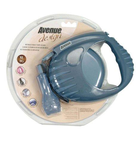 Avenue Design Retractable Tape Leash for Dogs, Blue, X-Large, 19 (Avenue Leash)