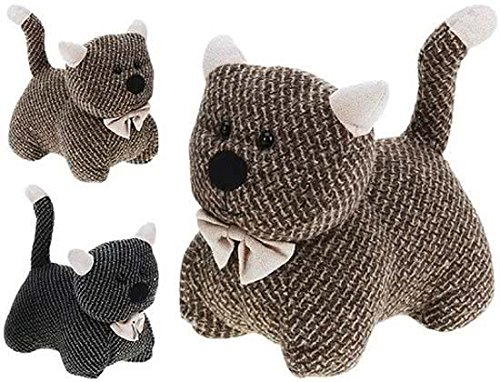 The Magic Toy Shop Large Heavy Fabric Animal Kitten Door Stop Home Office Cuddly Toy Doorstop
