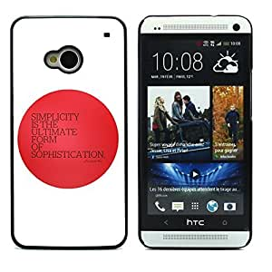 Graphic4You Ultimate Sophistication Message Quote Hard Case Cover for HTC One (M7)