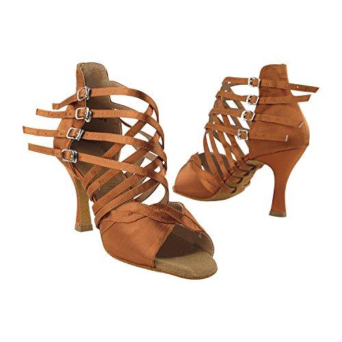 """Gold Taube Schuhe 50 Shades Of Tan Tanzschuhe, Komfort Abendkleid Hochzeit Pumps: Ballroom Schuhe für Latein, Tango, Salsa, Swing, Kunst von Party Party (2,5 """"& 3"""" Heels) 7036 - Dunkelbraun Satin"""