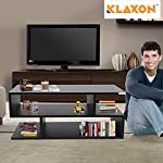 Klaxon S Shape Engineered Wood Coffee Table/Centre Table, Tea Table (Black)