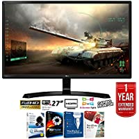 LG 27 Full HD IPS Dual HDMI Gaming Monitor 1920x1080 (27MP59HT-P) + Elite Suite 17 Standard Software Bundle (Corel WordPerfect, Winzip, PDF Fusion,X9) + 1 Year Extended Warranty