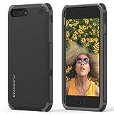 PureGear iPhone 8 Plus / 7 Plus, DualTek Snap On Durable Slim Protective Stylish Shock absorbing Case, Matte Black