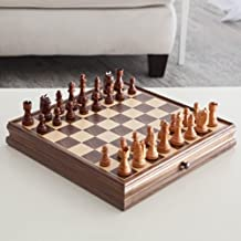 """StealStreet 1042 15"""" Recreational Classic Wooden Chess Game Set with Drawer"""